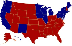 Electoral College map of the 2000 Presidential Election